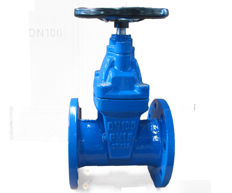 BS  PN10/PN16 Ductile iron non-rising stem soft seal gate valve