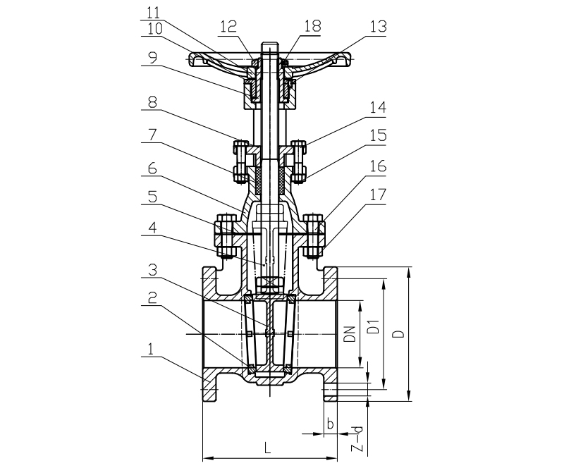 ANSI Class 150 Cast iron/ Ductile iron rising stem hard seal gate valve
